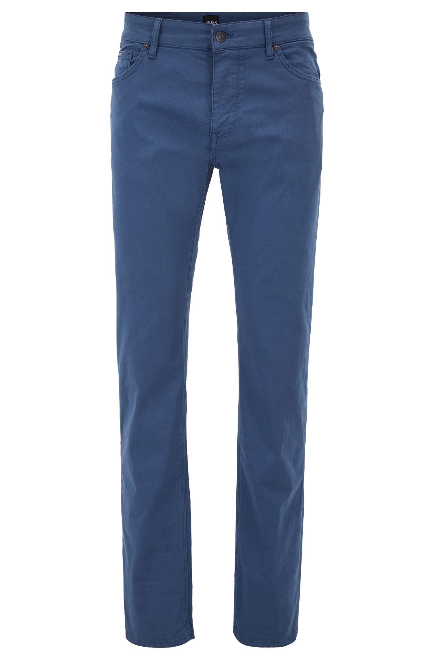 Jeans Regular Fit en denim stretch effet satin