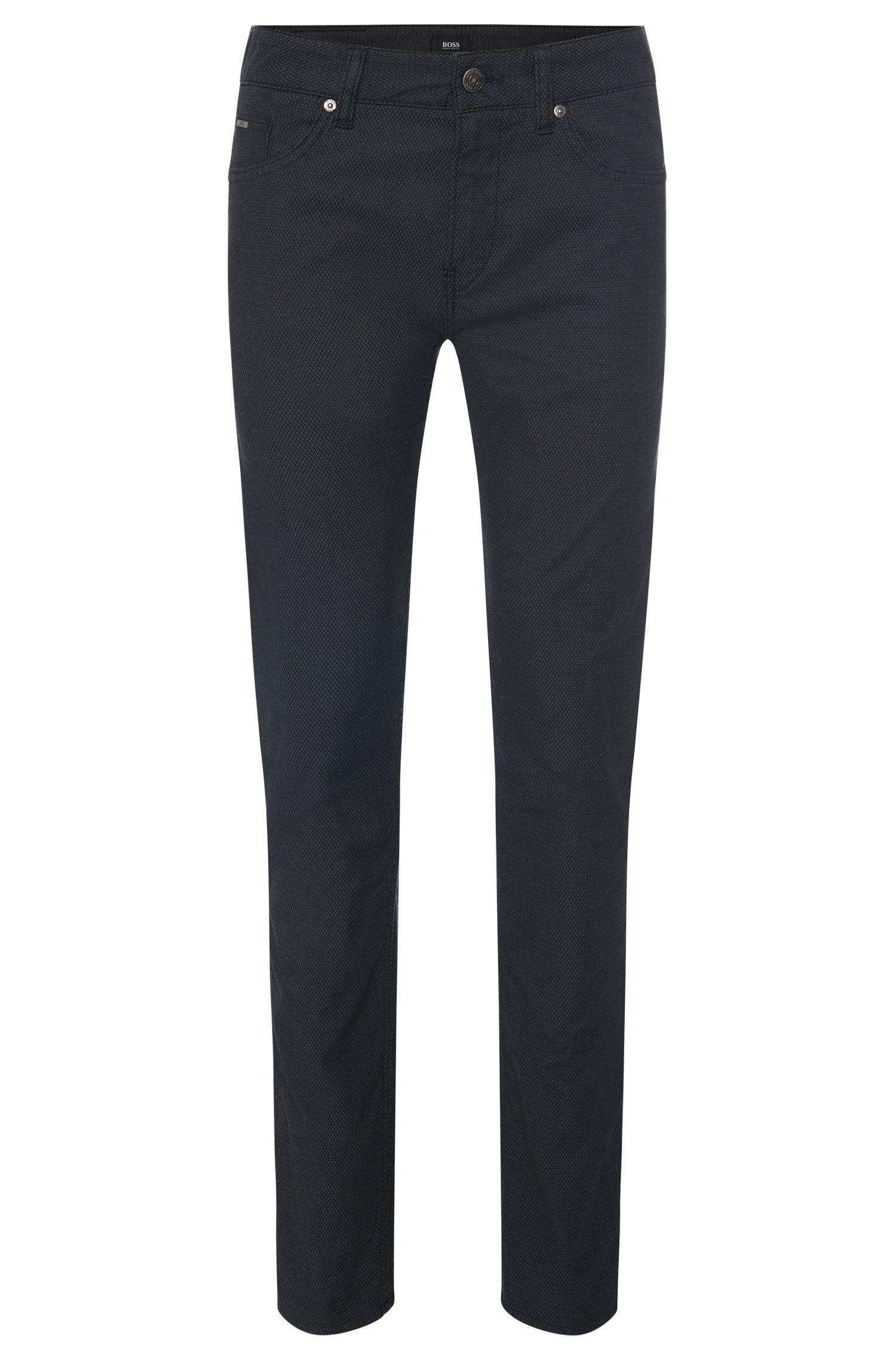 Slim-fit broek van gestructureerd stretchkatoen: 'Delaware3-20'