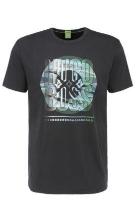 T-shirt en coton Regular Fit à imprimé: «Tee3», Noir