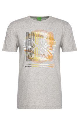 Regular-Fit Baumwollshirt mit Print: ´Tee 3`, Hellgrau