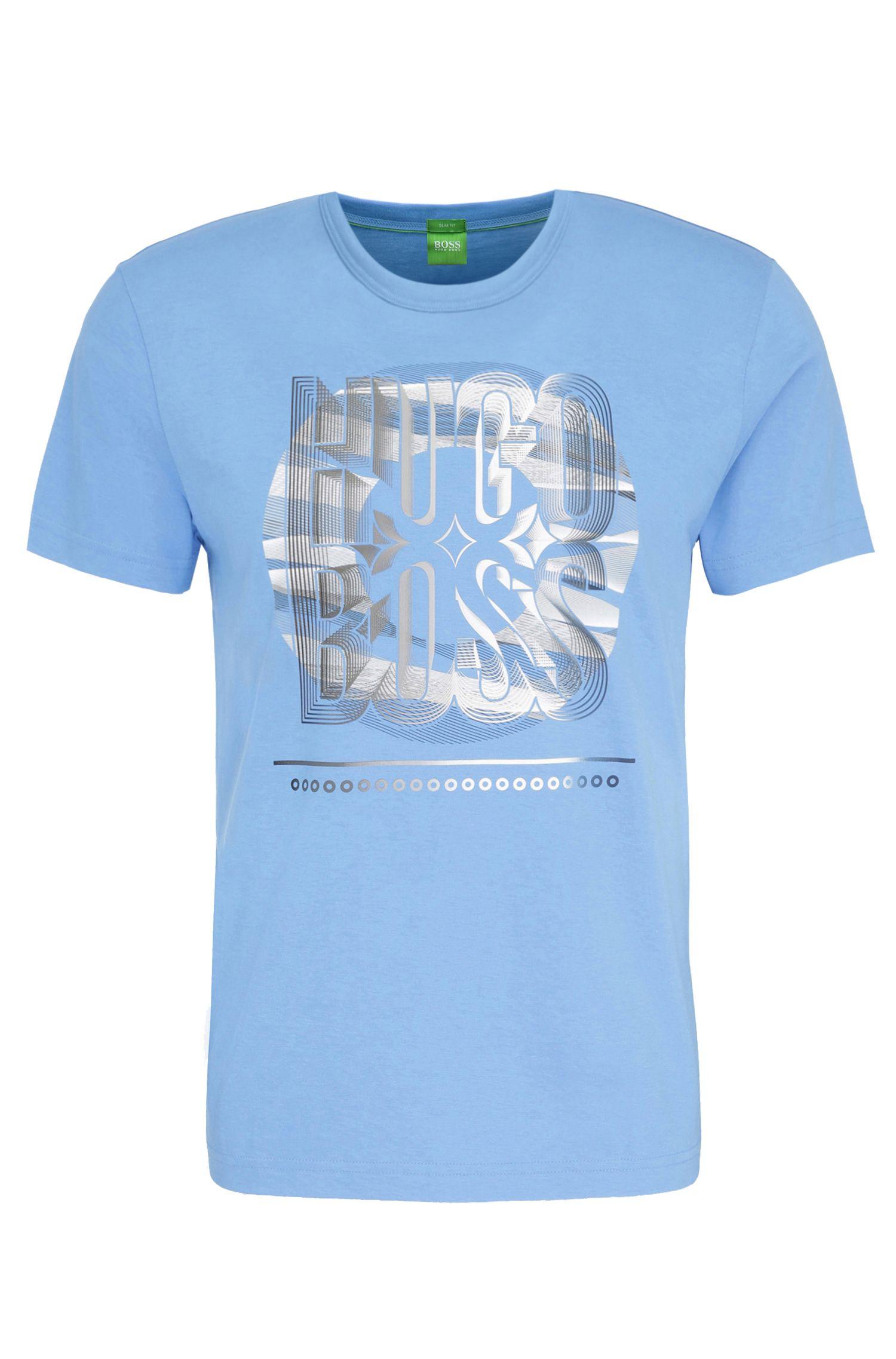 Maglietta in cotone regular fit con stampa: 'Tee 3'