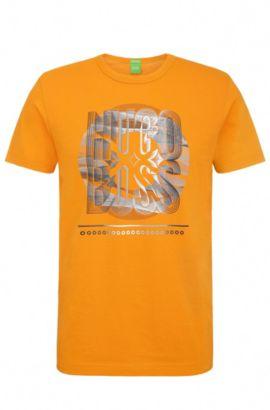 Regular-Fit Baumwollshirt mit Print: ´Tee 3`, Hellorange