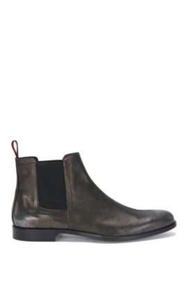 Chelsea boots in metallic-look leather: 'Sigma_Cheb_sdgl', Dark Grey