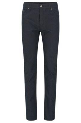 Pantalon structuré Regular Fit en coton mélangé extensible: «Maine3-20», Anthracite