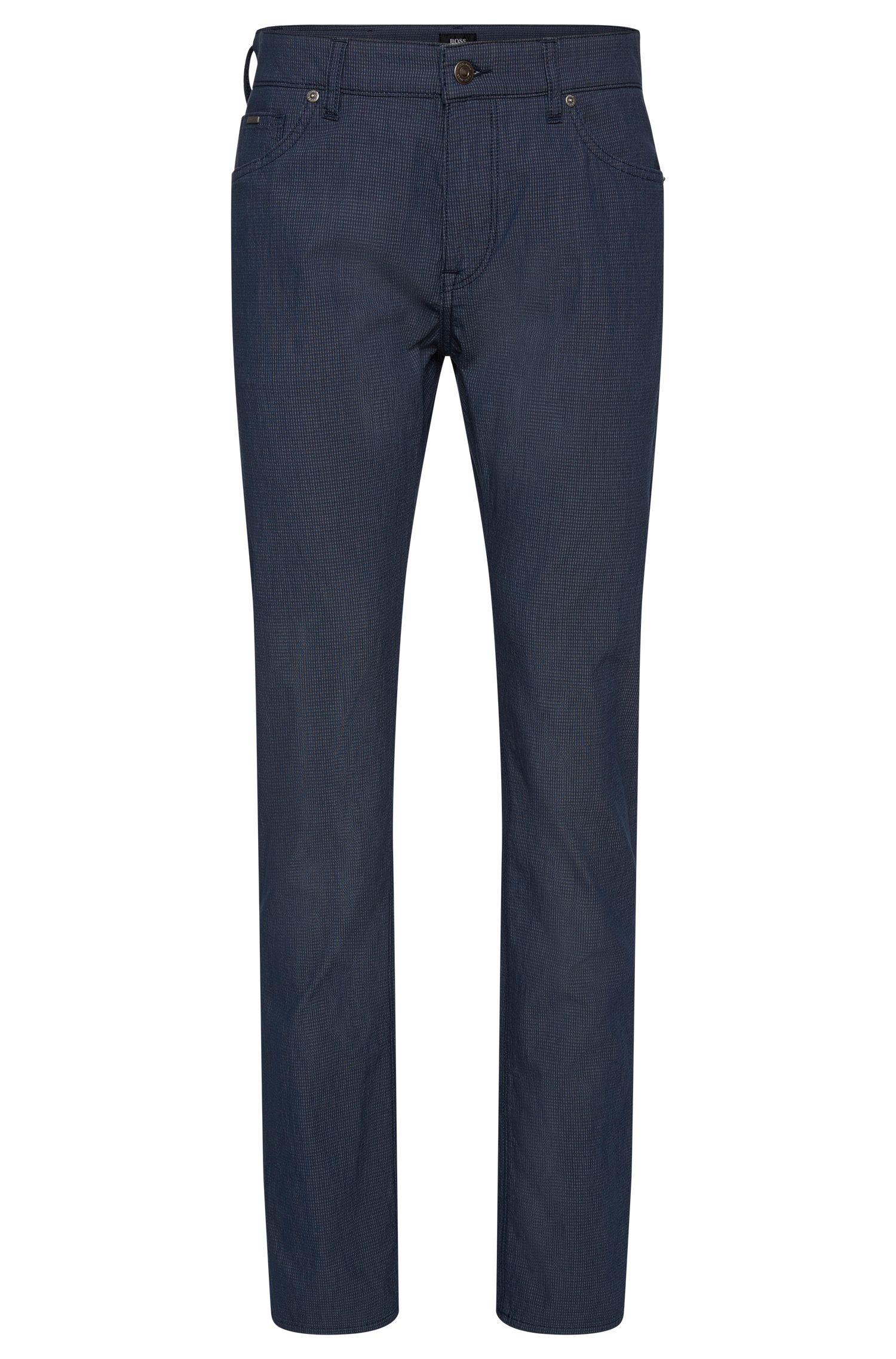 Strukturierte Regular-Fit Hose aus elastischem Baumwoll-Mix: 'Maine3-20'