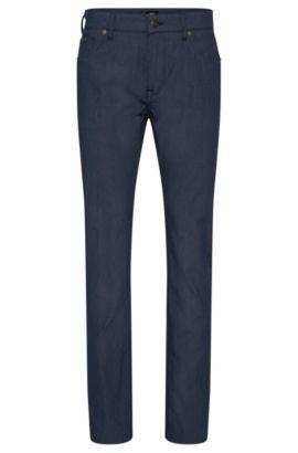 Pantalón regular fit en mezcla de algodón elástico con textura: 'Maine3-20', Celeste