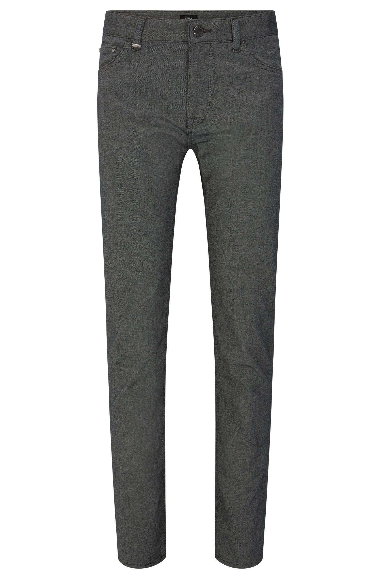 Regular-fit trousers in denim-look stretch cotton: 'Maine3-20'
