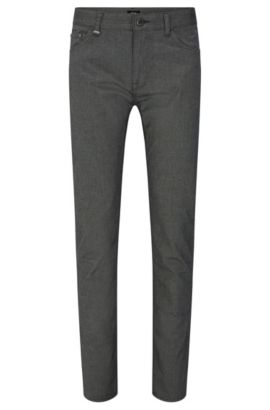 Regular-fit trousers in denim-look stretch cotton: 'Maine3-20', Anthracite