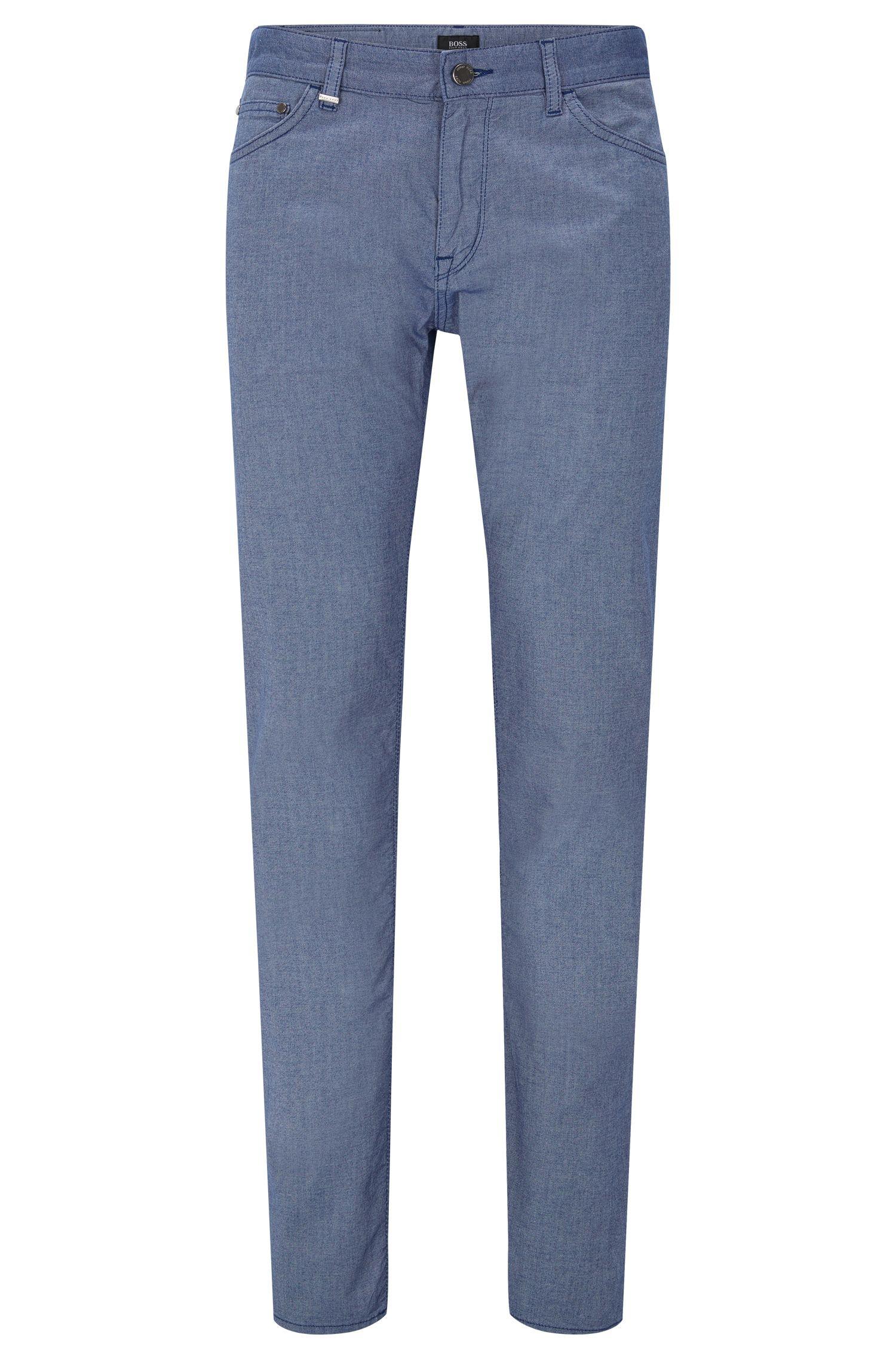 Regular-fit broek van stretchkatoen in denimlook: 'Maine3-20'