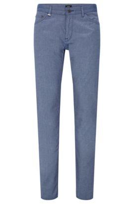 Regular-fit broek van stretchkatoen in denimlook: 'Maine3-20', Blauw