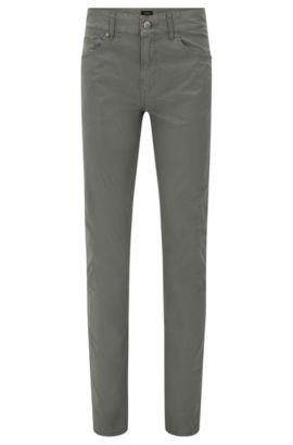 Pantalon Slim Fit en coton stretch: «Delaware3-20», Vert sombre