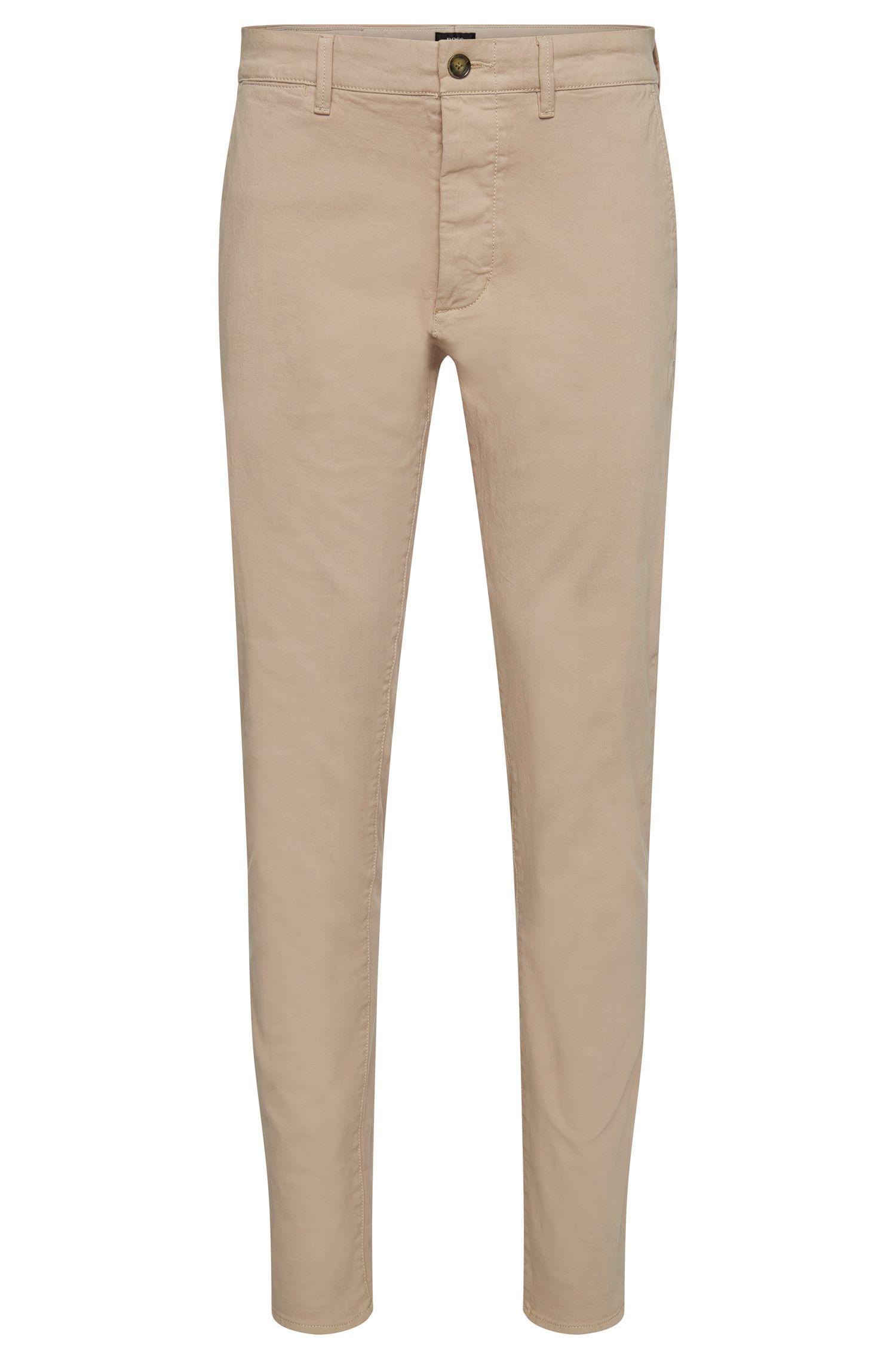 Chinos regular fit en algodón elástico con orillo en los cierres: 'Fremont-Edge-20'
