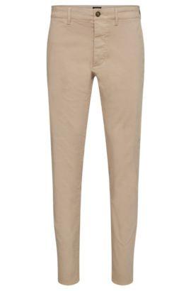 Chinos regular fit en algodón elástico con orillo en los cierres: 'Fremont-Edge-20', Beige claro