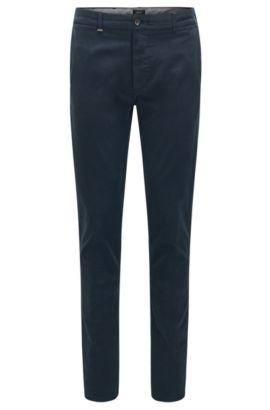 Regular-Fit Chino aus Stretch-Baumwolle mit Selvedge-Kanten: 'Fremont-Edge-20', Dunkelblau
