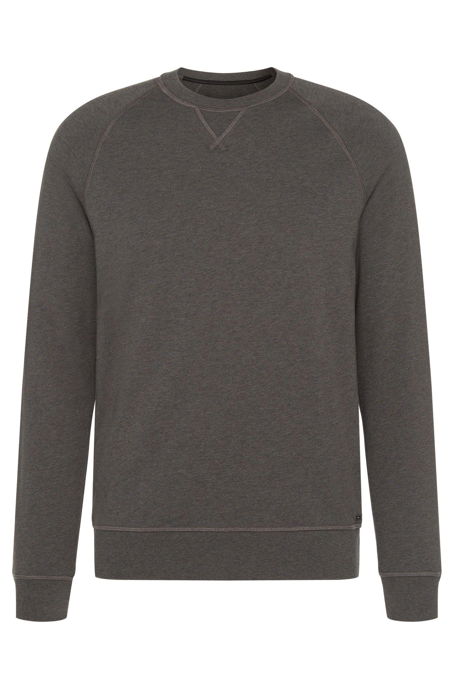 Gemêleerd slim-fit sweatshirt van katoen met raglanmouwen: 'Skubic 18-WS'