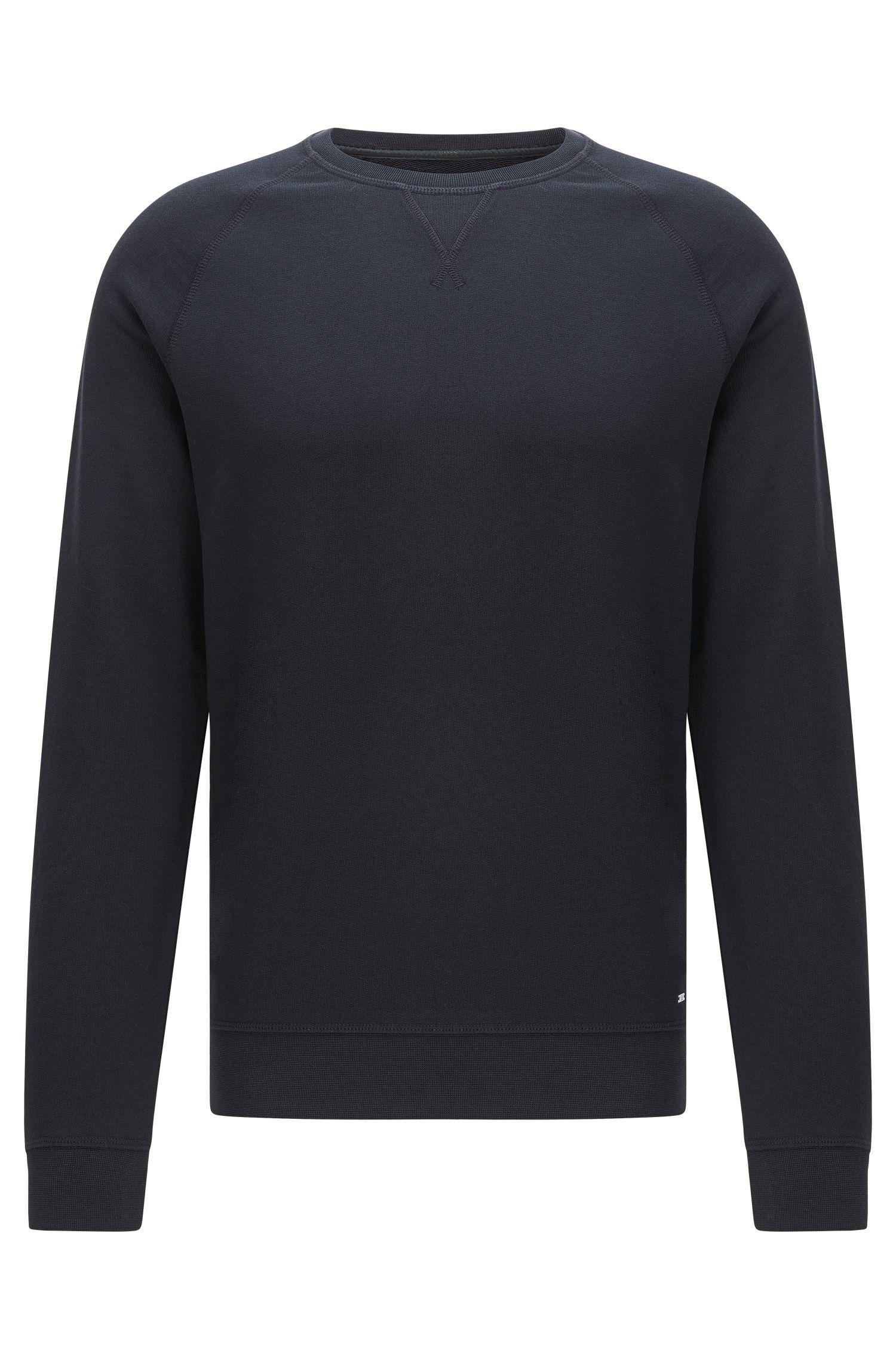 Mottled slim-fit sweatshirt in cotton with raglan sleeves: 'Skubic 18-WS'