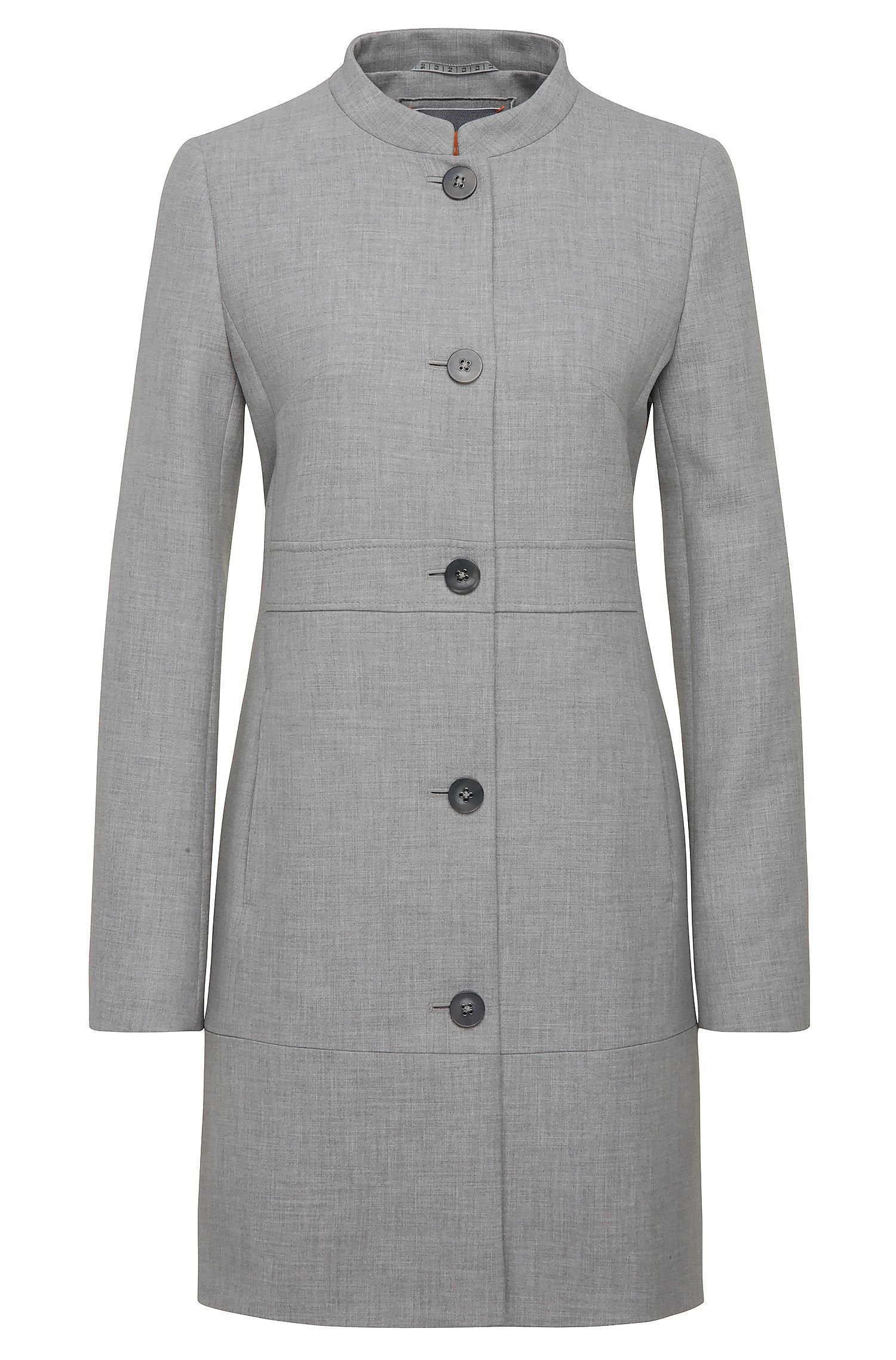 Single-breasted coat in material blend with viscose: 'Okirana5'