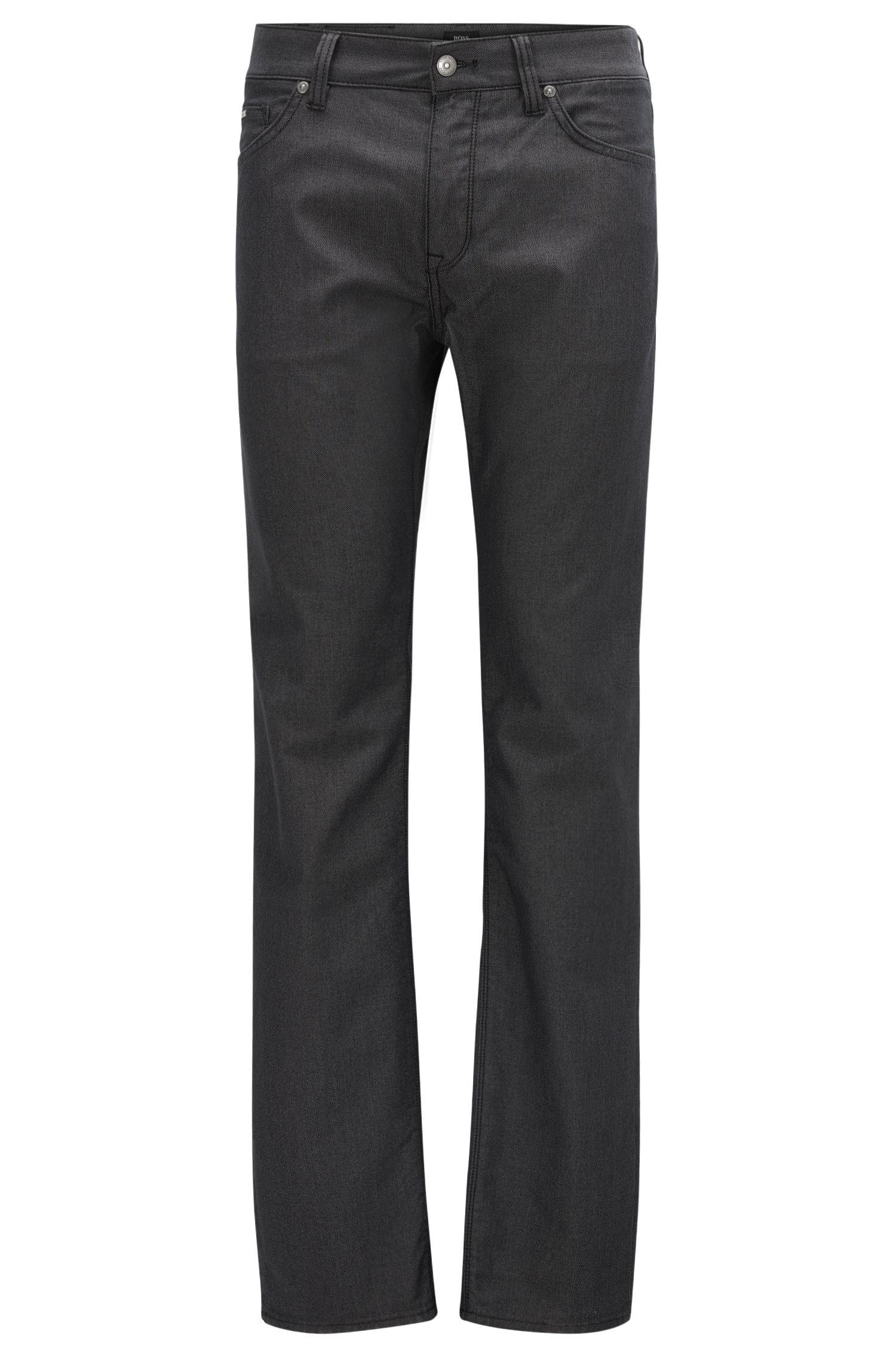Regular-Fit Jeans aus elastischer Pinpoint-Baumwolle