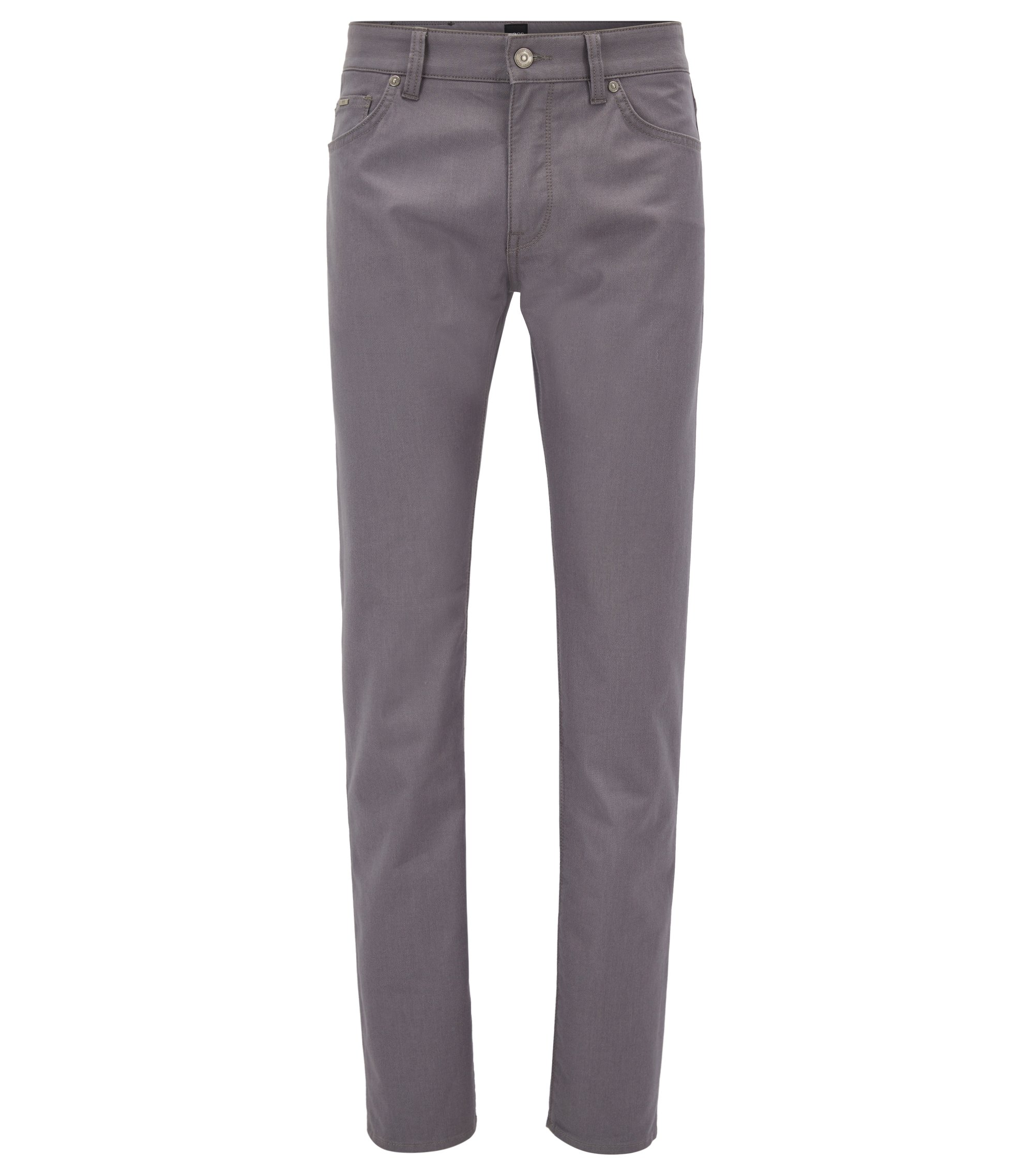 Jeans regular fit in tessuto pinpoint, Grigio