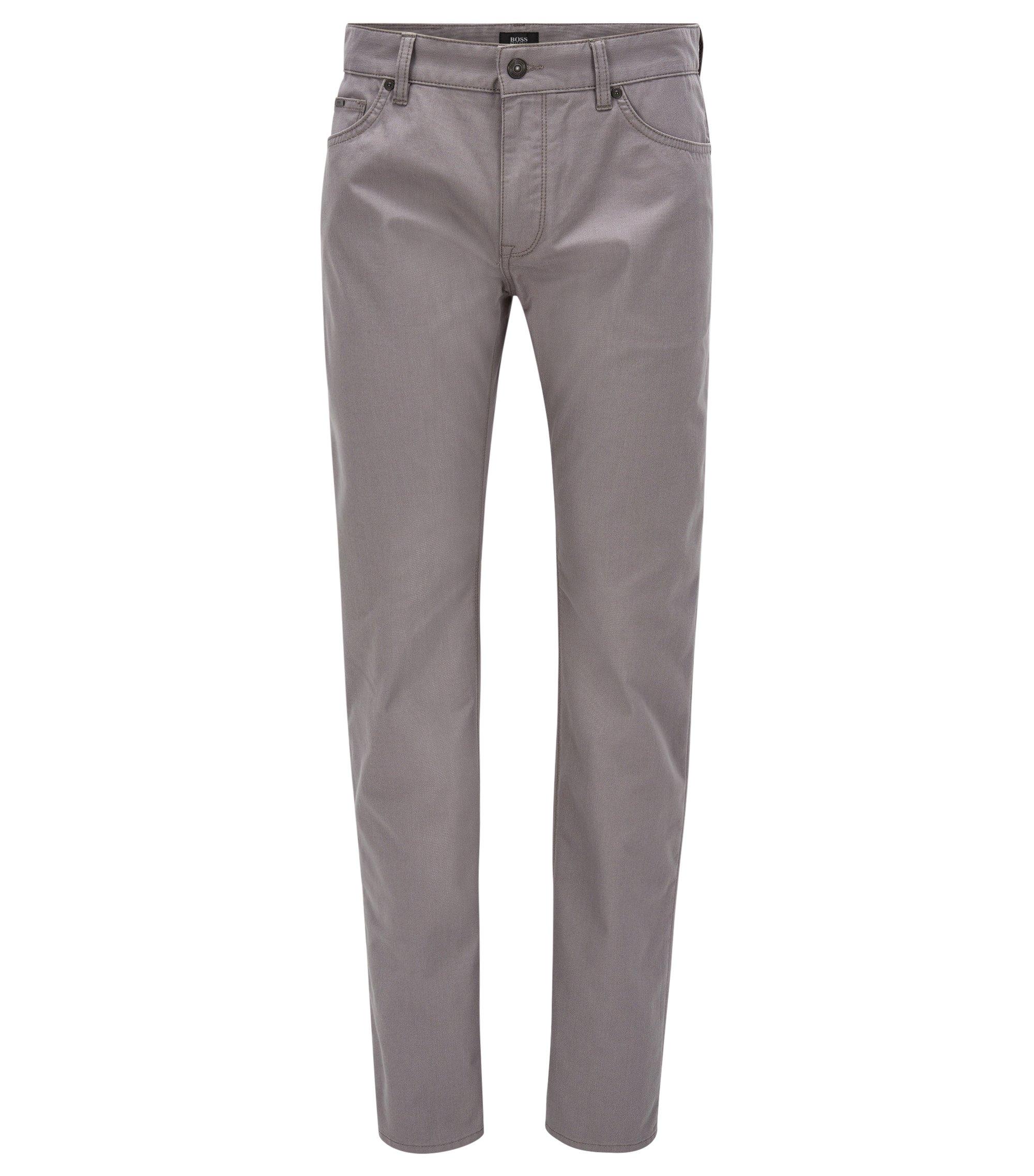 Jeans Regular Fit en tissu avec points de sellier, Gris