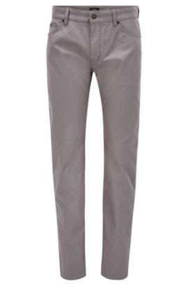 Vaqueros regular fit con tejido pinpoint, Gris
