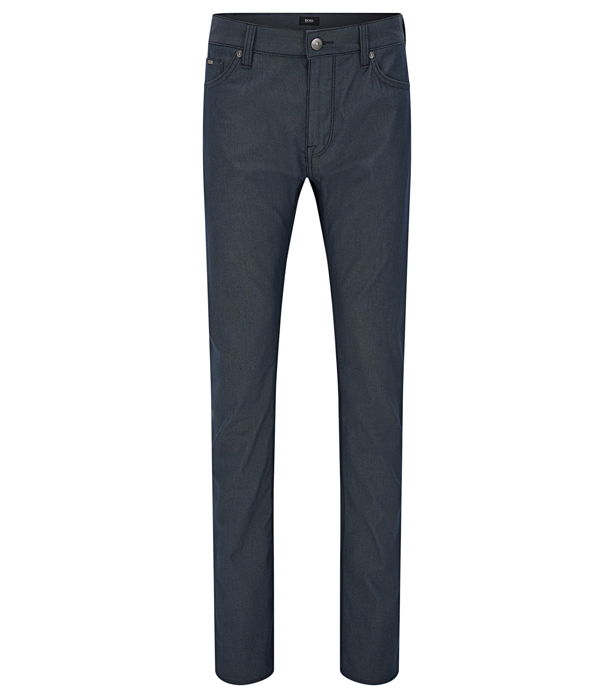Regular-fit jeans in pin-point fabric, Dark Blue