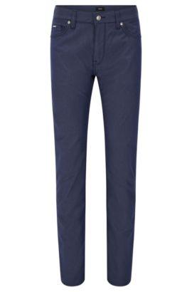 Regular-Fit Jeans aus elastischer Pinpoint-Baumwolle, Hellblau
