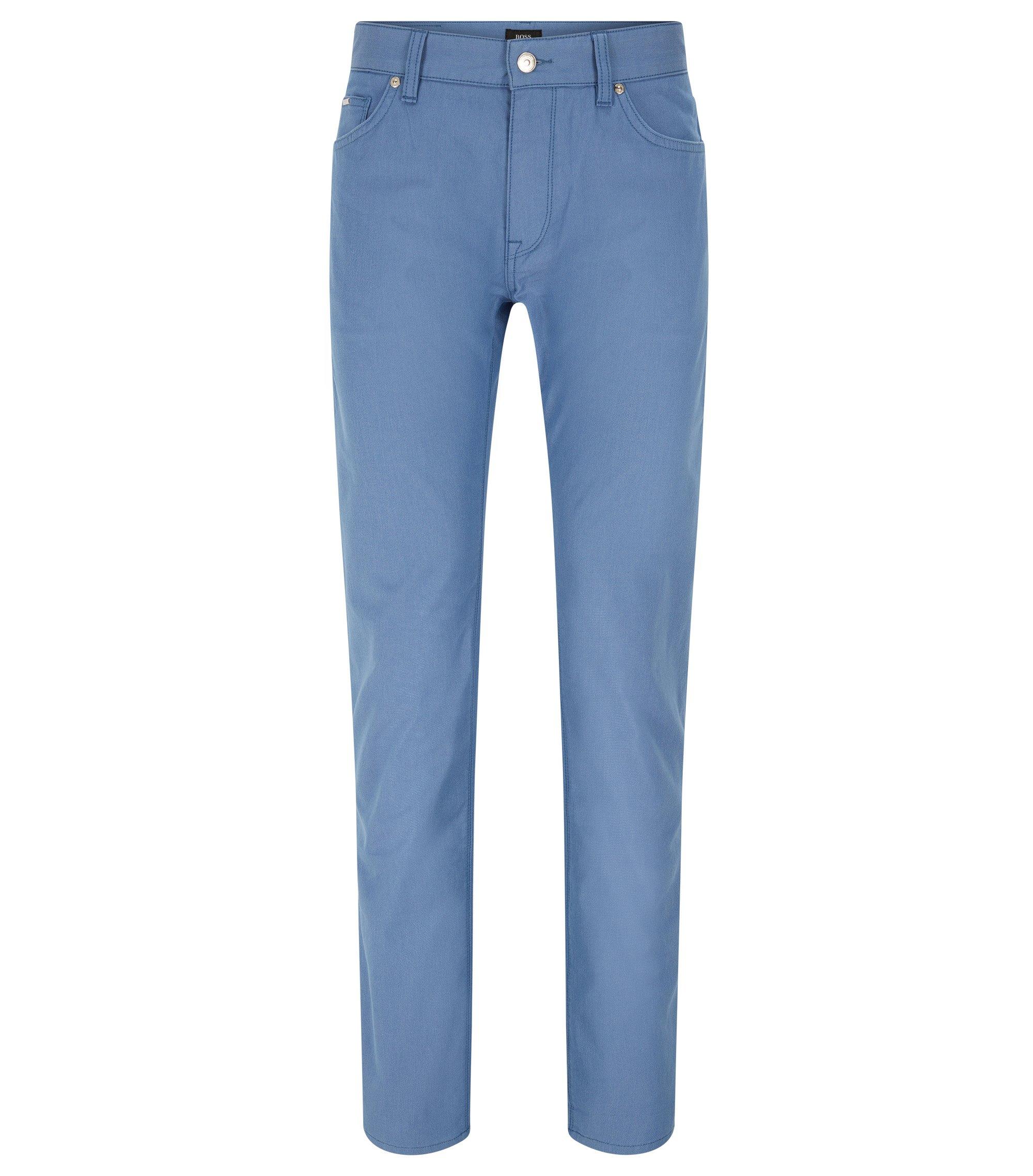 Regular-Fit Jeans aus elastischer Pinpoint-Baumwolle, Blau