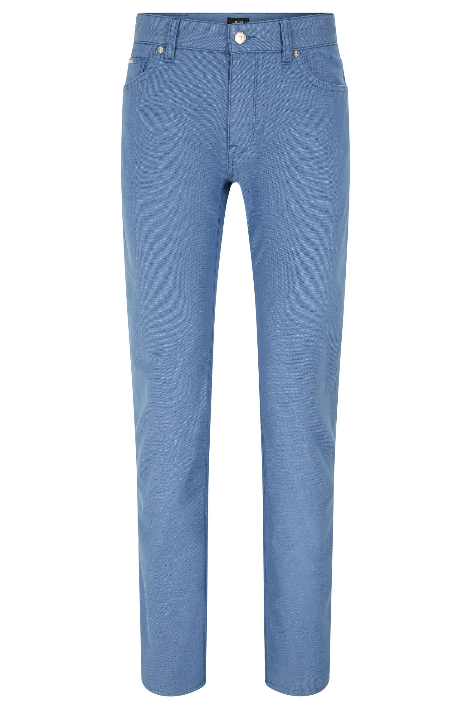 Regular-fit jeans van gestippeld materiaal