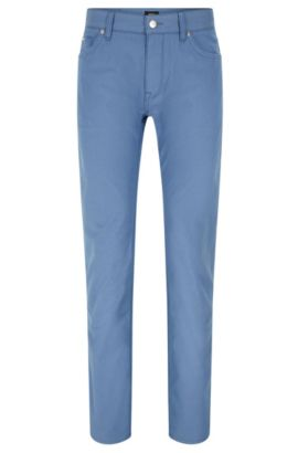 Jeans regular fit in tessuto pinpoint, Blu