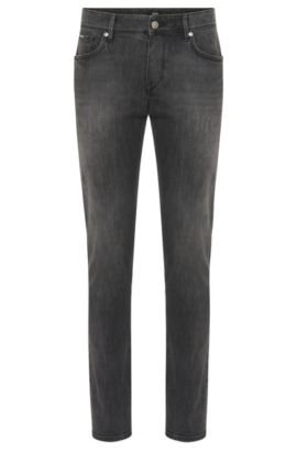 Slim-Fit Jeans aus Stretch-Baumwolle: 'Charleston3', Grau