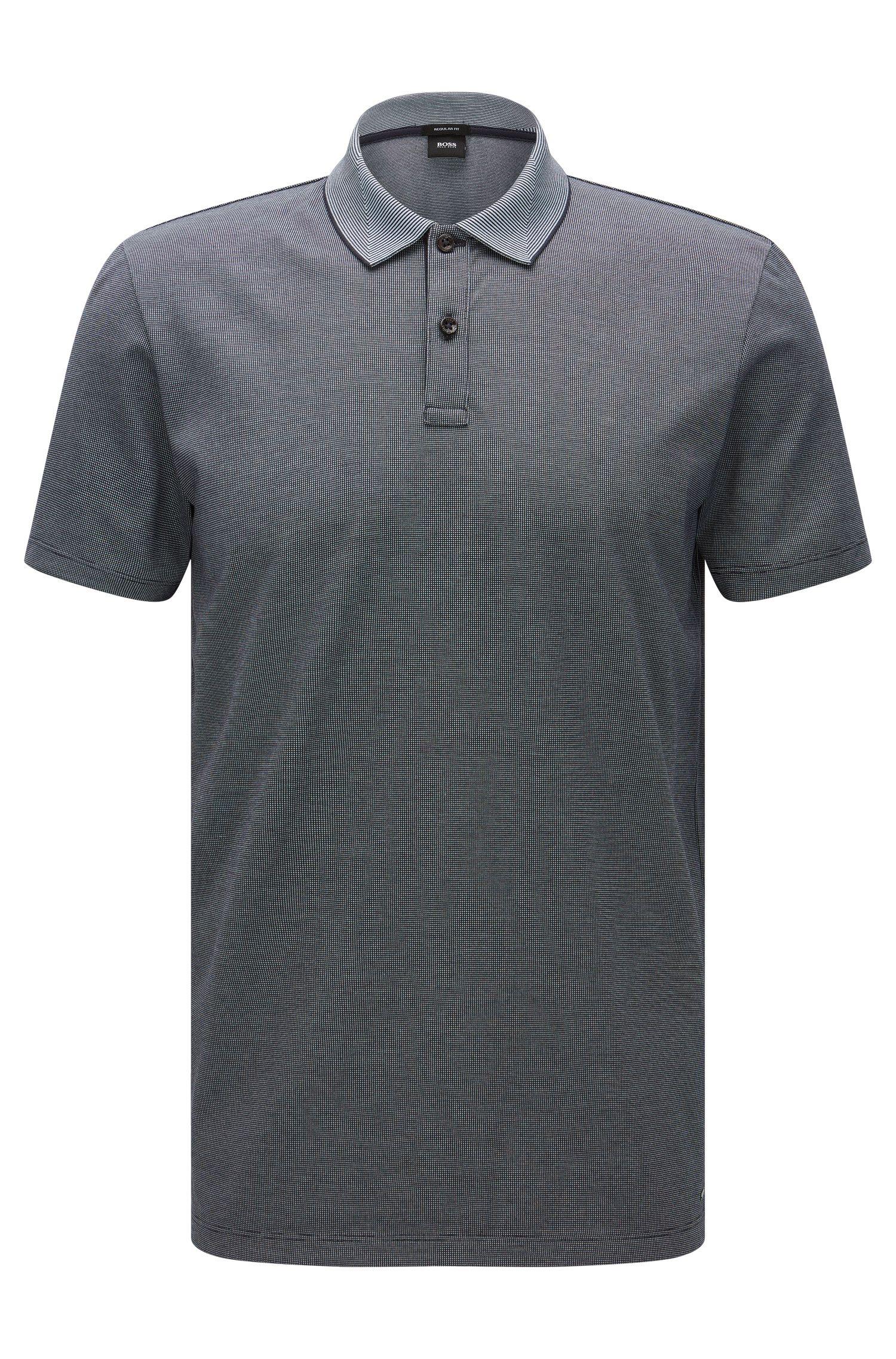 Polo Regular Fit en coton, au motif raffiné: «Parlay 07»