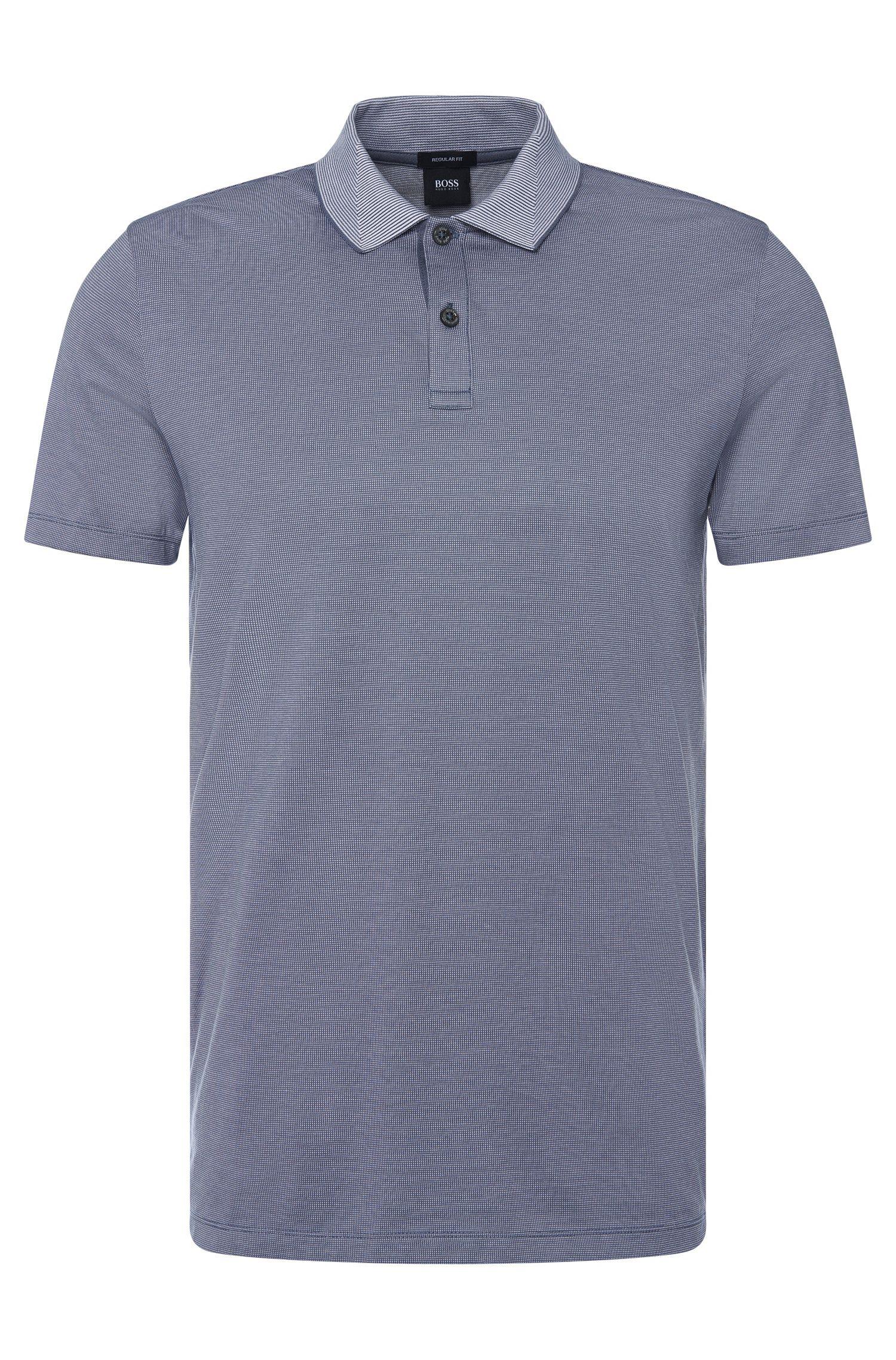 Polo regular fit con un elegante estampado en algodón: 'Parlay 07'