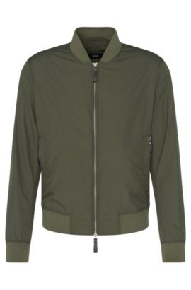Jacket in bomber jacket style with ribbed cuffs: 'Cartago', Dark Green