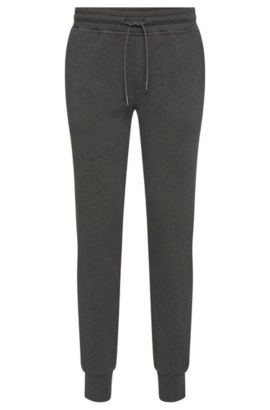 Mottled sweat trousers in cotton with zip pockets: 'Lamont 03-WS', Grey