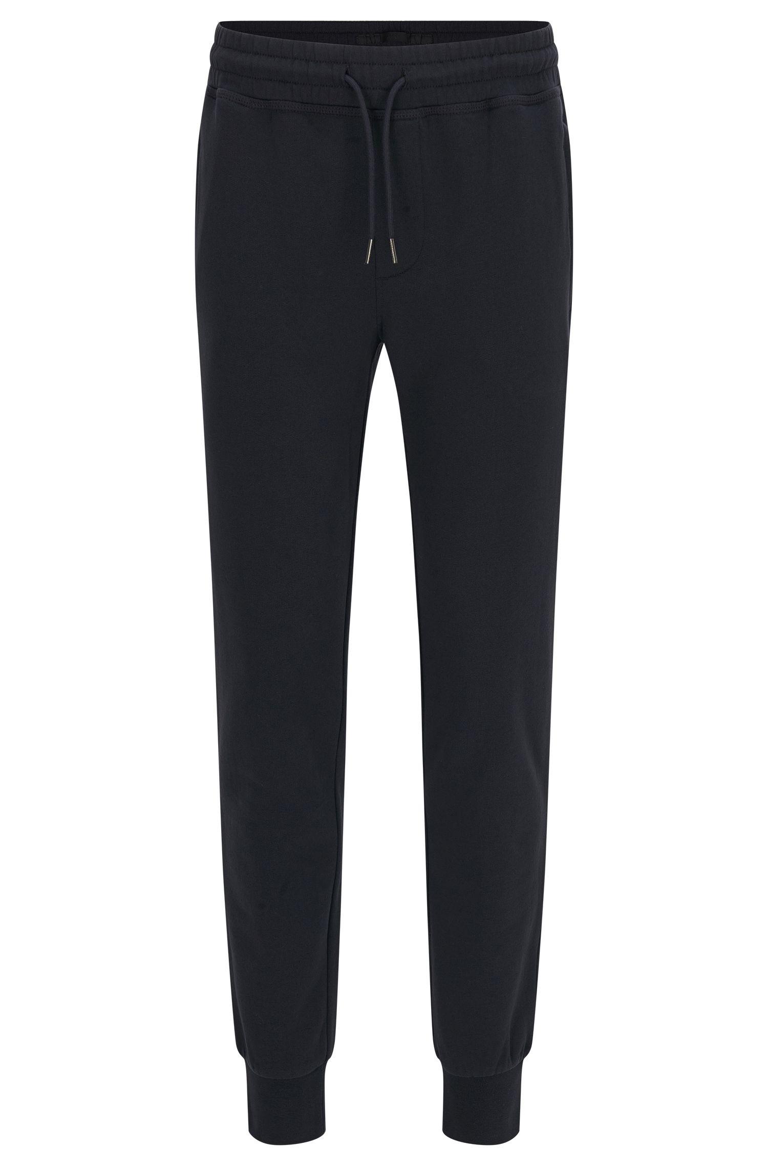 Pantaloni in felpa mélange in cotone, con tasche con zip. 'Lamont 03-WS'