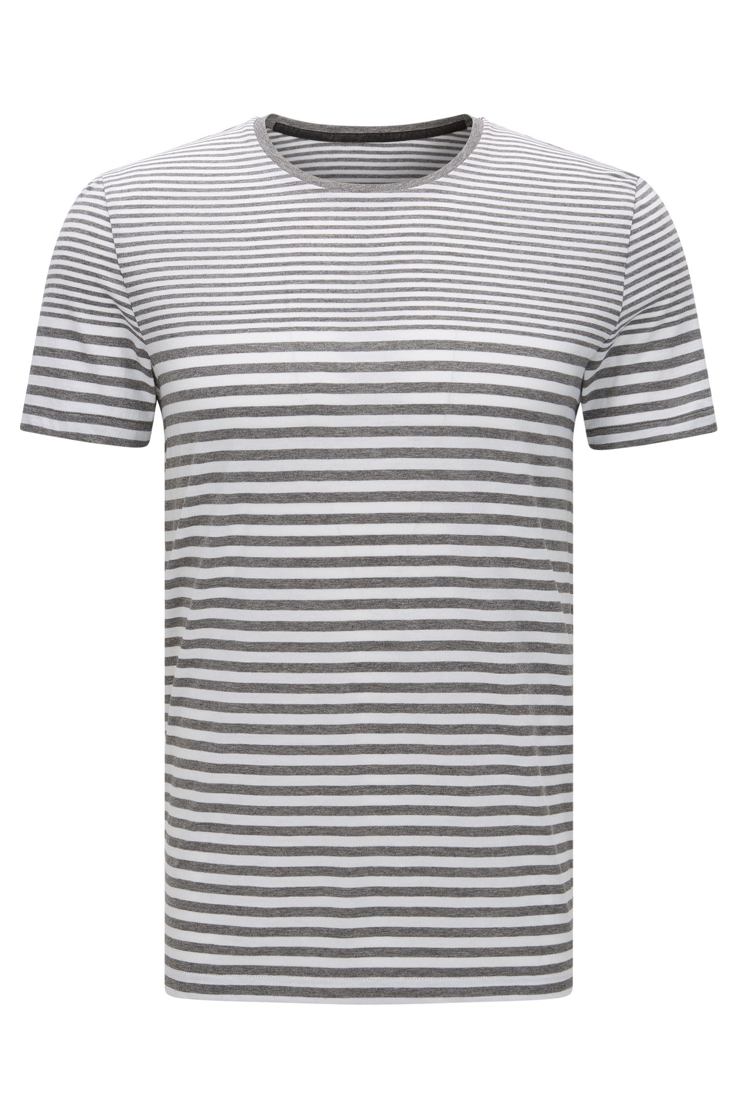 Striped slim-fit t-shirt in cotton: 'Tessler 48-WS'