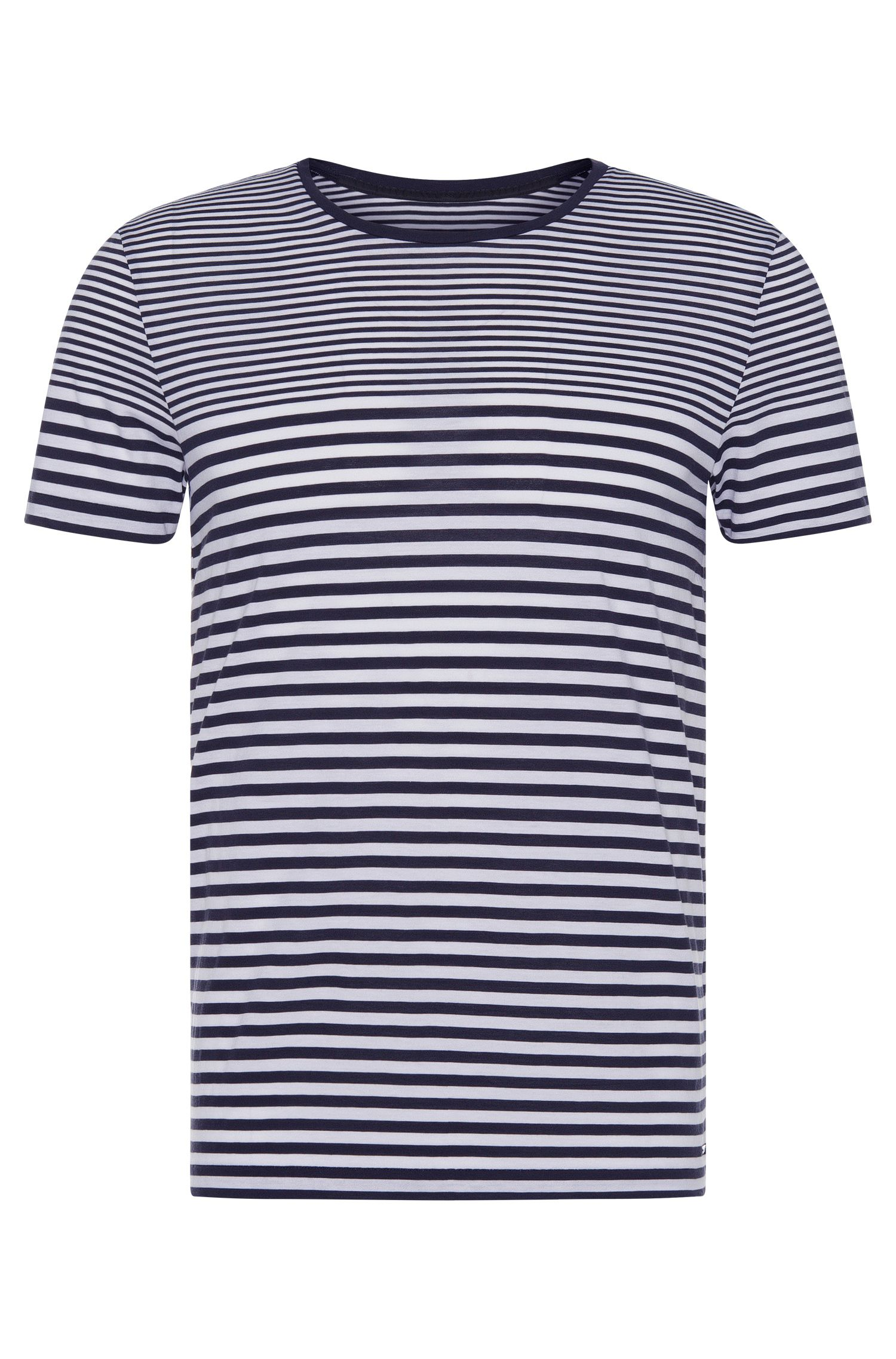 Camiseta a rayas slim fit en algodón: 'Tessler 48-WS'