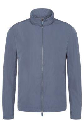 Wasserabweisende Jacke mit integrierter Kapuze: 'Carpio1', Hellblau