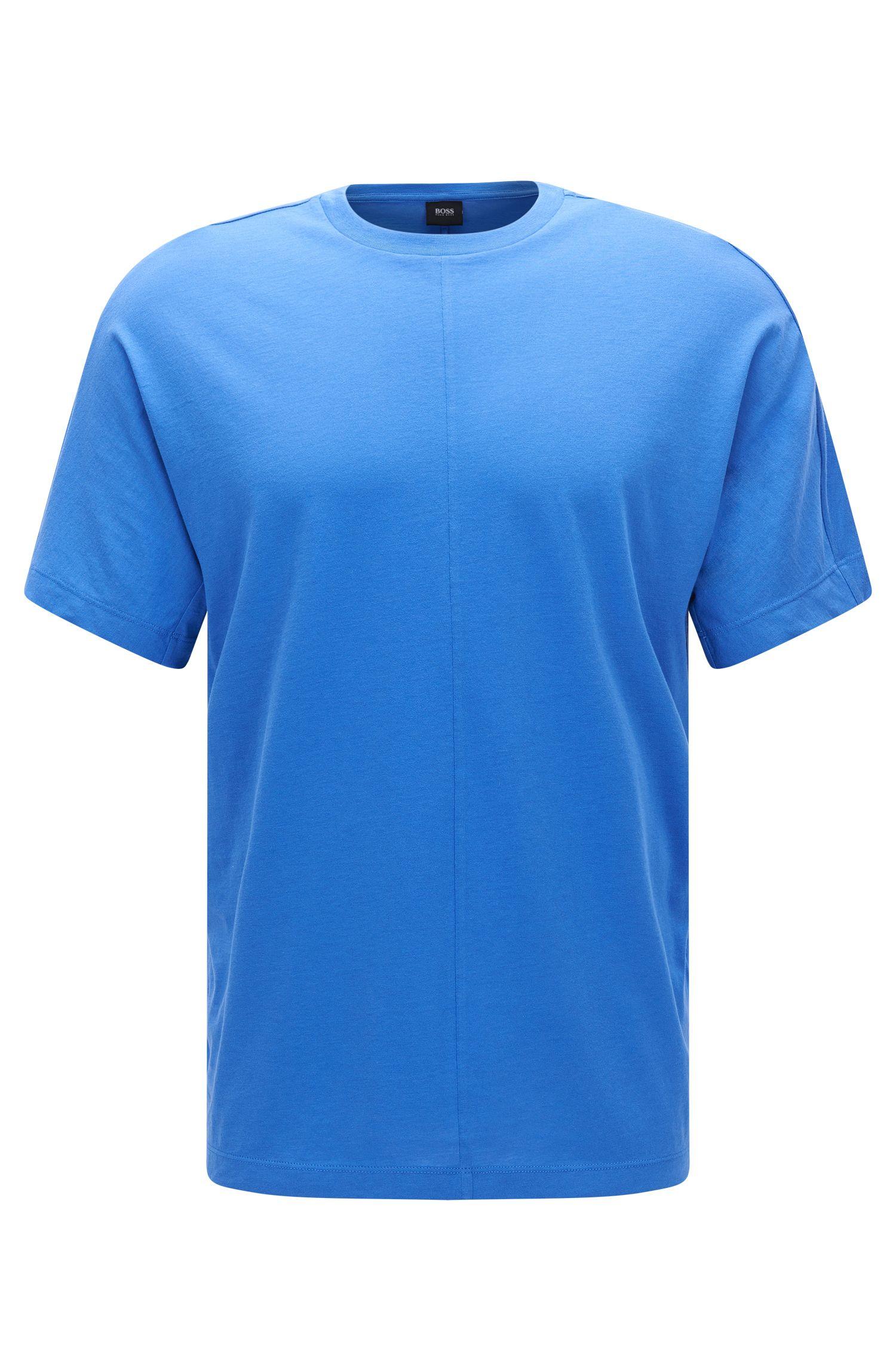 Regular-fit T-shirt van katoen met zichtnaden: 'Tiburt 23'