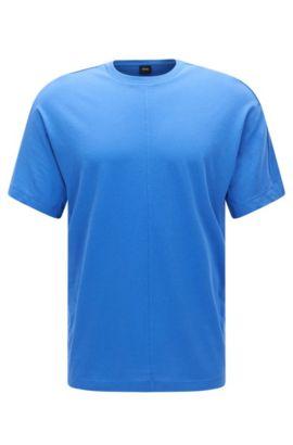 Regular-Fit T-Shirt aus Baumwolle mit Sichtnähten: 'Tiburt 23', Blau