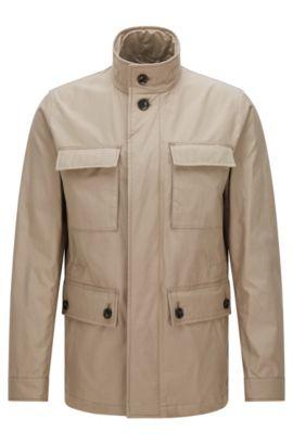 Jacke aus Material-Mix mit Baumwolle: 'Cedar1', Khaki