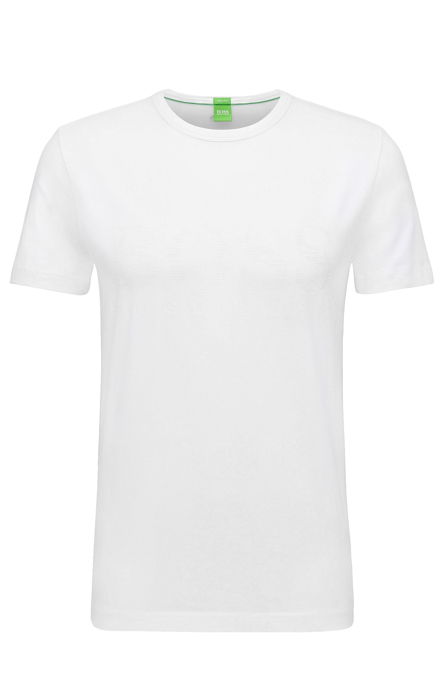 T-shirt imprimé en coton stretch : « Tee US »