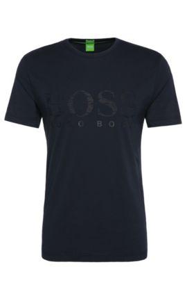 Print-Shirt aus Stretch-Baumwolle: ´Tee US`, Dunkelblau