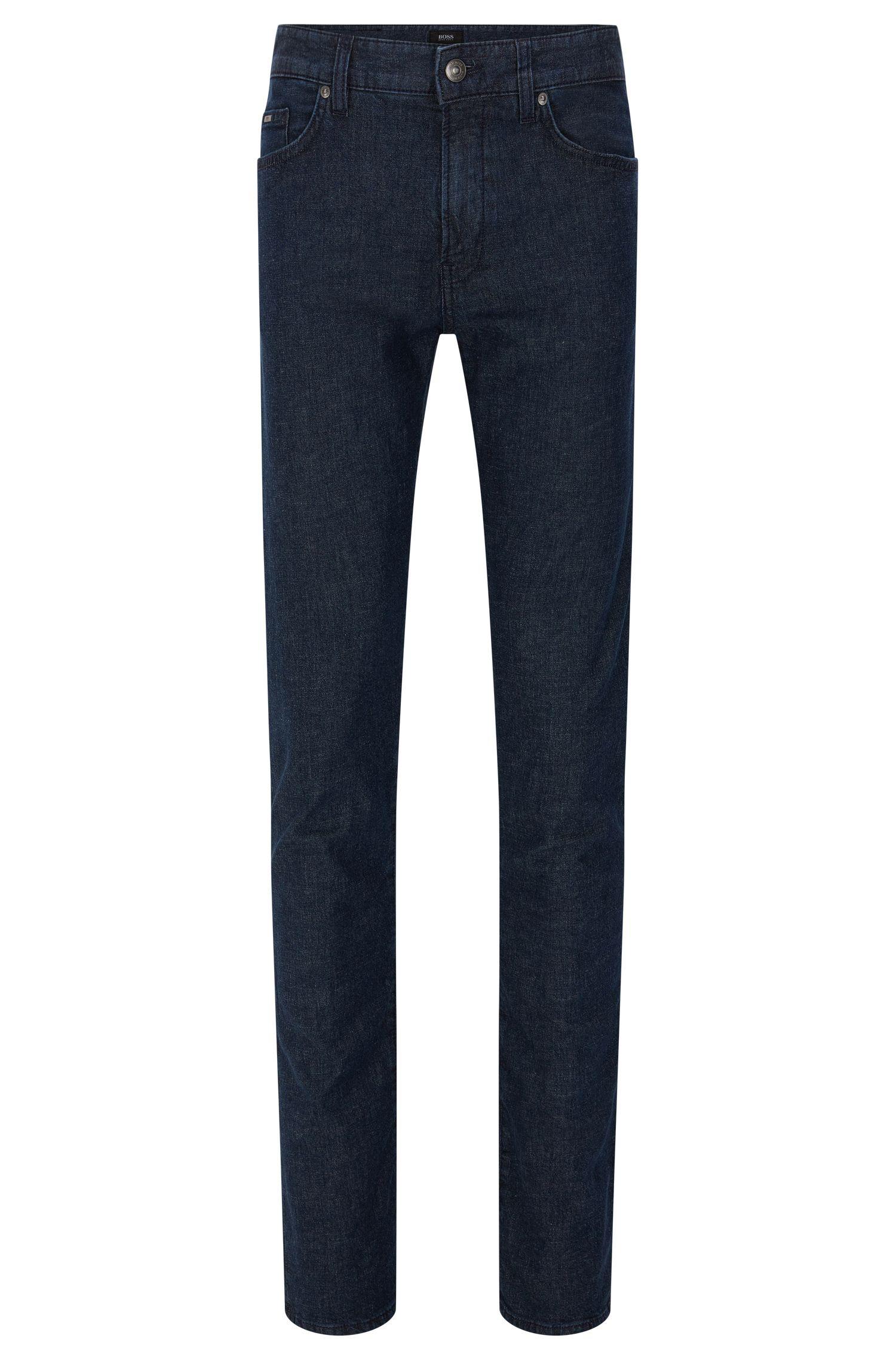 Jeans Slim Fit en coton mélangé extensible à teneur en lyocell et lin: «Delaware3-1»