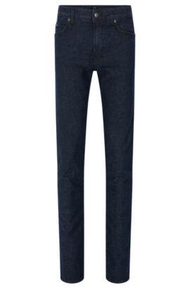 Slim-Fit Jeans aus elastischem Baumwoll-Mix mit Lyocell und Leinen: 'Delaware3-1', Blau