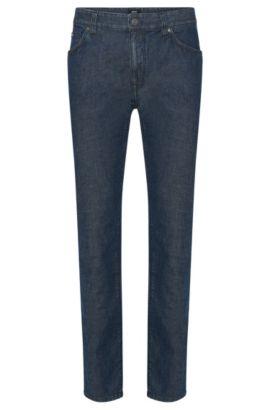 Regular-Fit Jeans aus elastischem Baumwoll-Mix mit Lyocell und Leinen: 'Maine3', Blau