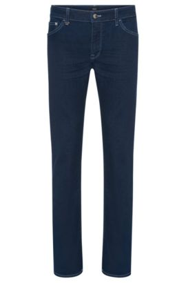 Regular-fit jeans in a stretchy cotton blend in a rinsed look: 'Maine3', Blue