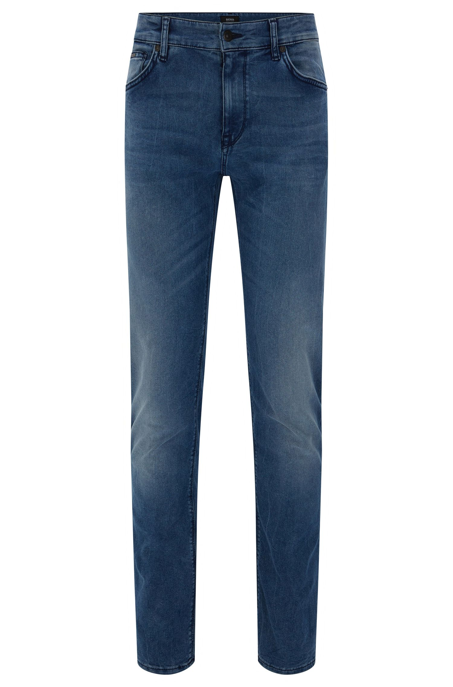 Regular-Fit Jeans aus Baumwoll-Mix mit Sitzfalten: 'Maine3'