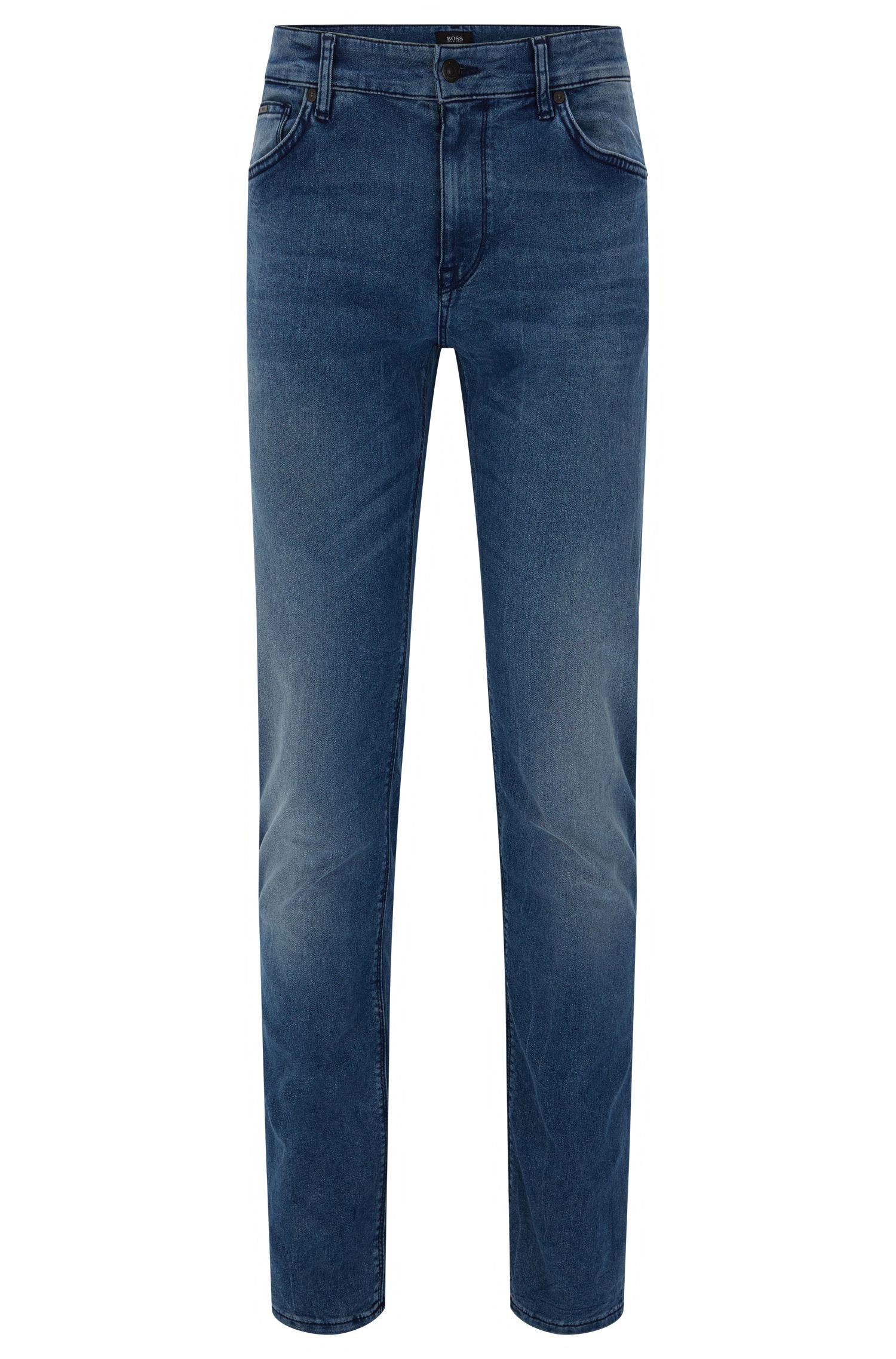 Regular-fit jeans van een katoenmix met zitvouwen: 'Maine3'